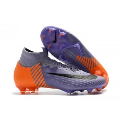 Nike Mercurial Superfly 360 Elite FG Fotbollsskor - Lila Orange Svart