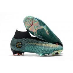 Ronaldo Nike Fotbollsskor Mercurial Superfly 6 Elite DF FG - Blå Guld