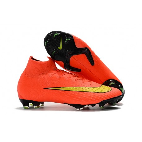 more photos a275e 737e1 Nike Fotbollsskor Mercurial Superfly 6 Elite DF FG - Orange Gul