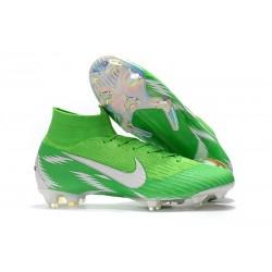 Nike Mercurial Superfly VI Elite FG Fotbollsskor för Män - Grön Vit