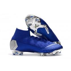 Nike Fotbollsskor Mercurial Superfly VI 360 Elite DF FG - Blå Silver