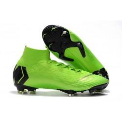 Nike Fotbollsskor Mercurial Superfly VI 360 Elite DF FG - Grön Svart