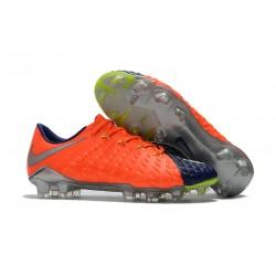 Nike Hypervenom Phantom III FG Fotbollsskor för Män - Orange Blå