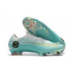 Nike Mercurial Vapor 12 Elite FG Fotbollsskor för Ronaldo - Vit Blå Guld