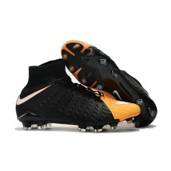 Fotbollsskor Nike Hypervenom Phantom III Dynamic Fit FG - Svart Orange
