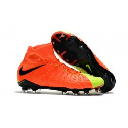 Fotbollsskor Nike Hypervenom Phantom III Dynamic Fit FG - Orange Gul