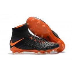 Nike Fotbollsskor Hypervenom 3 Elite DF FG Herr - Svart Orange