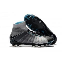 Nike Fotbollsskor Hypervenom 3 Elite DF FG Herr - Grå Svart