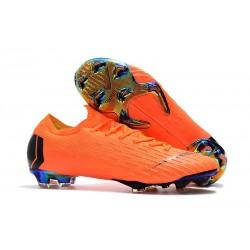 Nike Mercurial Vapor 12 Elite FG Fotbollsskor för Män - Orange Svart