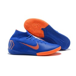 Nike Ronaldo Fotbollsskor för Dam Mercurial SuperflyX 6 Elite IC - Blå Orange