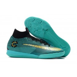 Nike Mercurial SuperflyX 6 Elite IC Fotbollsskor för Barn - Blå Guld
