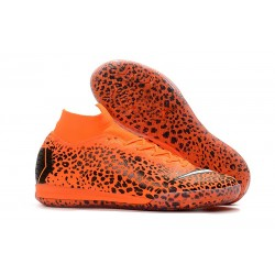 Nike Ronaldo Mercurial SuperflyX 6 Elite IC Barn - Orange Svart