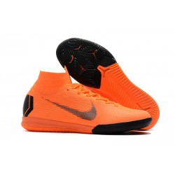 Nike Mercurial SuperflyX 6 Elite IC Fotbollsskor för Barn - Orange Svart