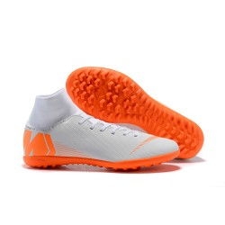 Nike Mercurial SuperflyX VI Elite TF Fotbollsskor Herr - Vit Orange