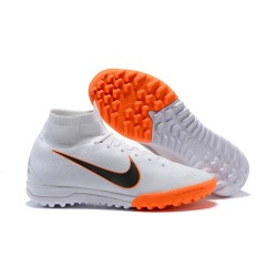 Nike Mercurial SuperflyX VI Elite TF Fotbollsskor för Damer - Vit Orange Svart