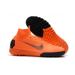 Nike Mercurial SuperflyX VI Elite TF för Barn - Orange Svart