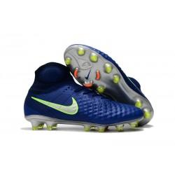 Nike Magista Obra II FG Fotbollssko för Män - Blå Grön