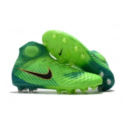 Nike Magista Obra 2 FG ACC Fotbollsskor för Herrar - Grön Svart