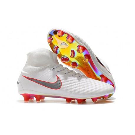 promo code ba914 7775b Nike Magista Obra 2 FG ACC Fotbollsskor för Herrar - Vit Grå Röd