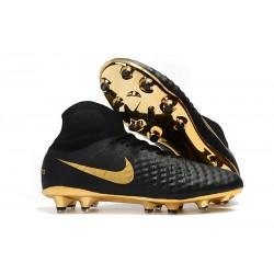 Nike Magista Obra II FG Nya Fotbollsskor - Svart Guld