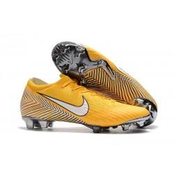 Neymar Nike Mercurial Vapor 12 Elite FG Barn Fotbollsskor - Gul Vit