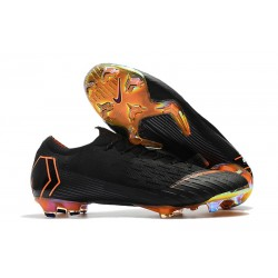 Nike Mercurial Vapor 12 Elite FG Barn Fotbollsskor - Svart Orange