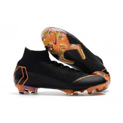 Nike Mercurial Superfly VI 360 Elite FG Fotbollsskor Barn - Svart Orange