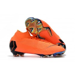 Nike Mercurial Superfly VI 360 Elite FG Fotbollsskor Barn - Orange Svart