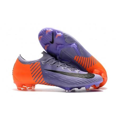 low priced e10a6 766b3 Nike Mercurial Vapor 12 Elite FG Fotbollsskor för Män - Lila Orange Svart