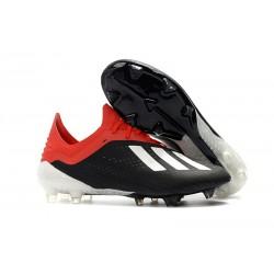 Fotbollsskor adidas X18.1 FG Herr - Svart Röd Vit