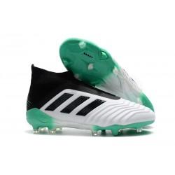 Adidas Predator 18+ FG Fotbollsskor för Herr - Vit Grön Svart