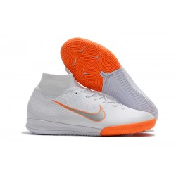 Nike Mercurial SuperflyX VI Elite IC Fotbollsskor - Vit Orange