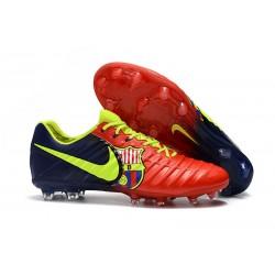 Nike Tiempo Legend 7 Elite FG Fotbollsskor för Herrar - Barcelona Röd