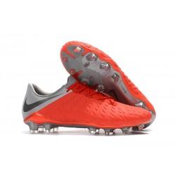 Nike Hypervenom Phantom 3 Elite FG Fotbollsskor - Rosso Grigio