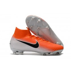 Nike Mercurial Superfly 6 Elite FG Skor För Män - Orange Vit