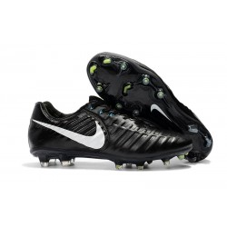 Nike Tiempo Legend 7 Elite FG Fotbollsskor för Herrar - Svart Vit