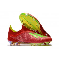 adidas X 18+ FG Fotbollsskor för Herrar - Röd Grön