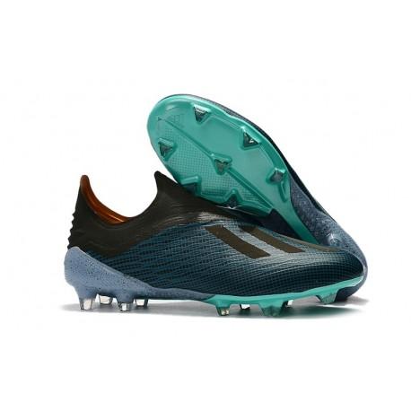 online store 623ce bca28 adidas X 18+ FG Fotbollsskor för Herrar - Blå Svart