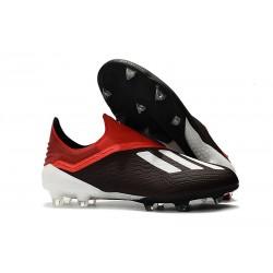 adidas X 18+ FG Fotbollsskor för Herrar - Svart Vit Röd