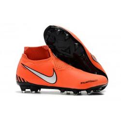 Fotbollsskor för Herr Nike Phantom Vsn Elite DF FG - Orange Svart Silver