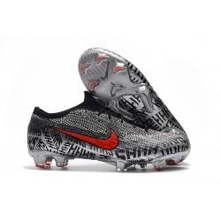 Nike Mercurial Vapor XII Elite FG ACC Fotbollsskor för Neymar - Svart Vit Röd