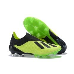 adidas X 18+ FG Fotbollsskor för Herrar - Grön Svart
