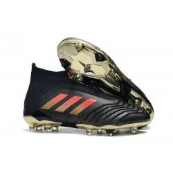 Adidas Predator 18+ FG Fotbollsskor för Herr - Svart Röd