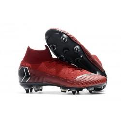 Fotbollsskor Nike Mercurial Superfly VI Elite Anti-Clog SG-Pro Röd Svart