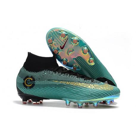 Ronaldo Nike Fotbollsskor Mercurial Superfly 6 CR7 Elite AG-Pro Blå Guld