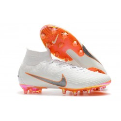Nike Fotbollsskor Mercurial Superfly 6 Elite AG-Pro Vit Orange
