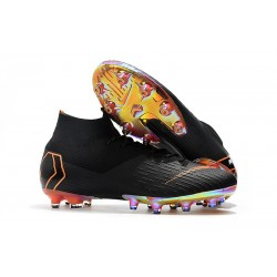 Nike Fotbollsskor Mercurial Superfly 6 Elite AG-Pro Svart Orange