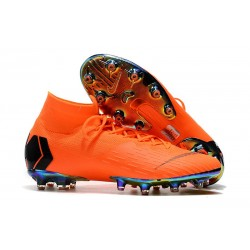 Nike Fotbollsskor Mercurial Superfly 6 Elite AG-Pro Orange Svart
