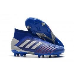 Fotbollsskor adidas Predator 19.1 FG för Herrar - Blå Silver