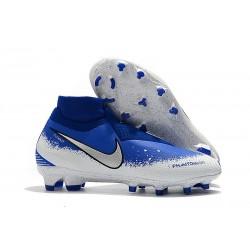 Fotbollsskor för Herr Nike Phantom Vsn Elite DF FG - Blå Vit